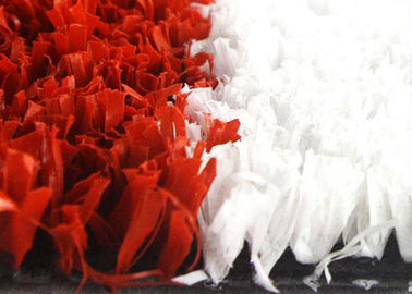 China High Density 10mm Synthetic Cricket Pitch Turf Red And White With Soft Touching supplier
