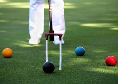 Croquet Field Hard Wearing Artificial Grass 13mm Bicolor Environment Friendly